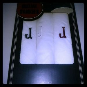 "Buxton intial ""J"" Embroided Men's Handkerchiefs"